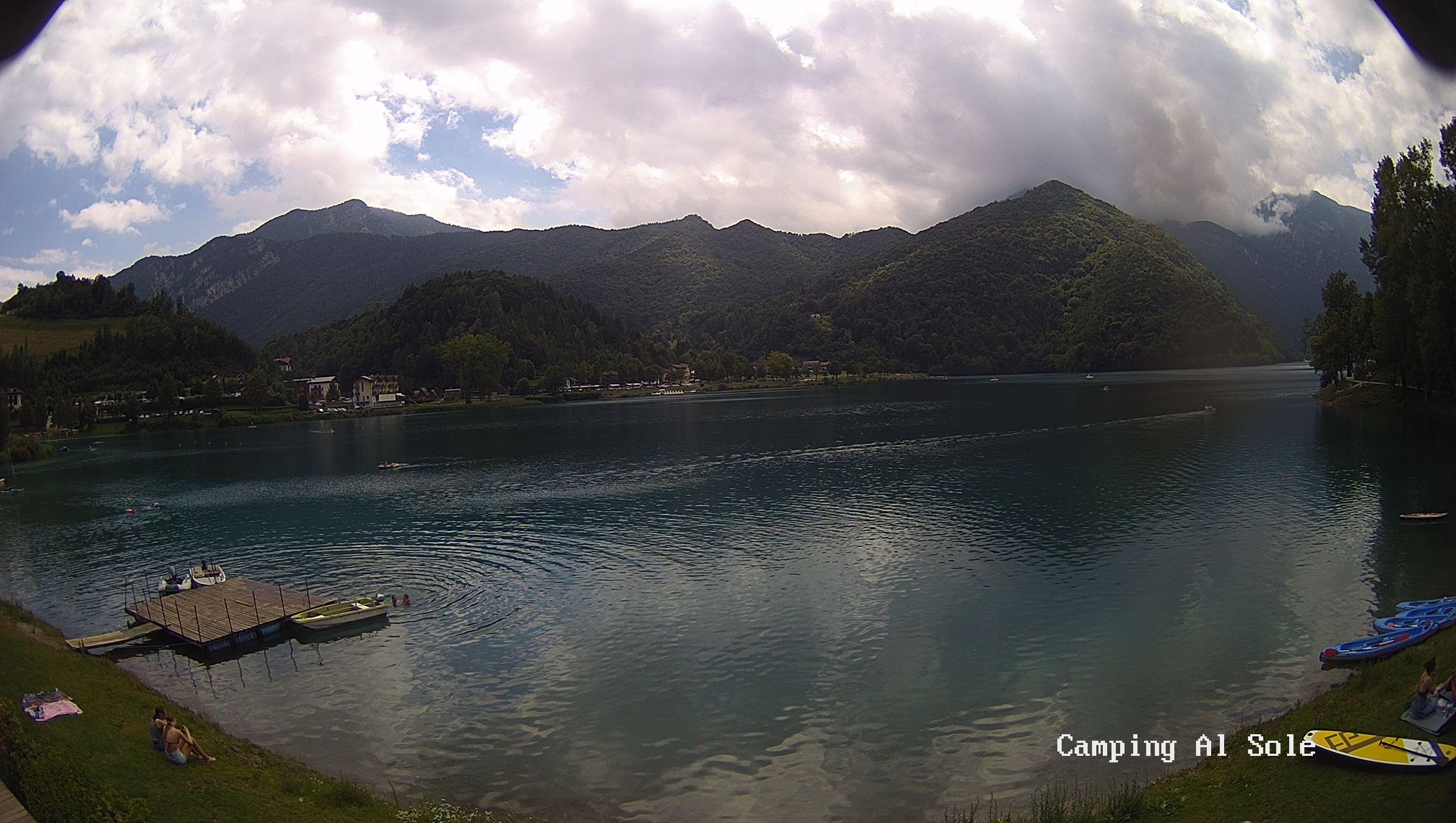 Webcam camping Al Sole Lago di Ledro